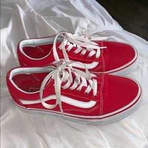 LIKE NEW!!!! RED VANS